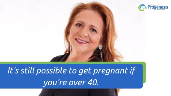 It's still possible to get pregnant if you're over 40.