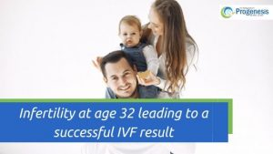 Infertility at age 32 leading to a successful IVF result