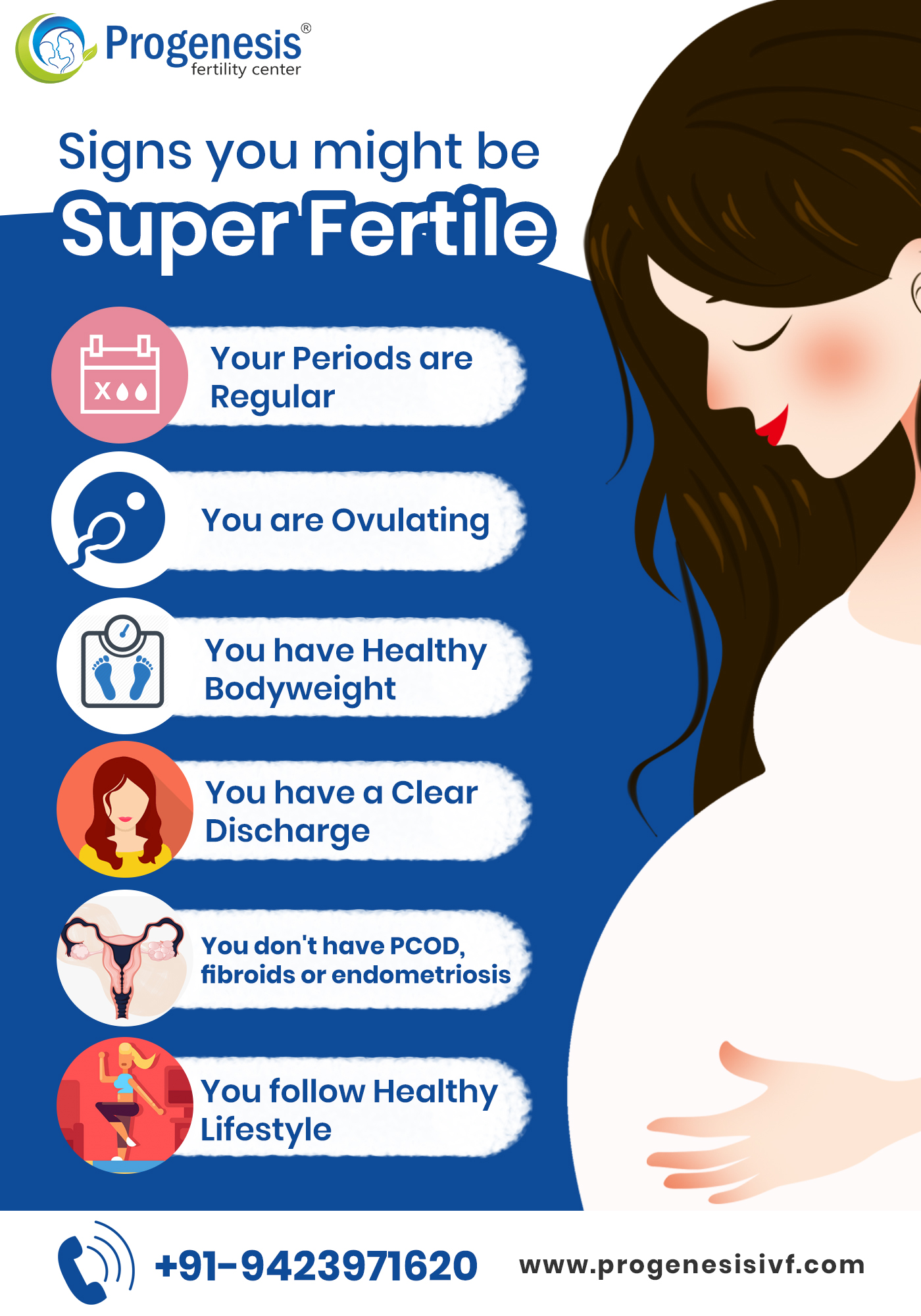 Signs you might be super fertile