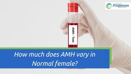 How much does AMH vary in Normal female
