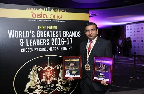 """YEAR 2017 – """"World's Greatest Brand"""" and """"World's Greatest Leaders"""" by URS & ASIA ONE in Dubai"""